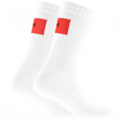 Product Image for HUGO Logo Sport Rib Socks White